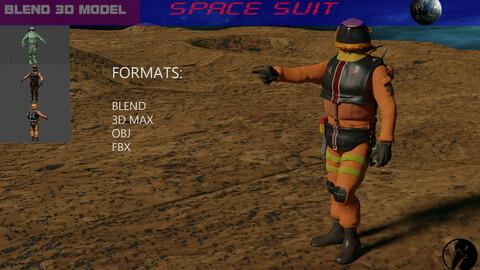 Space miner suit 3D model