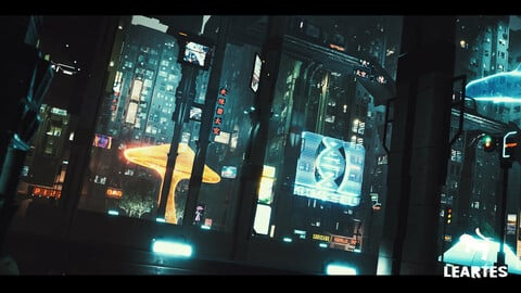 Cyberpunk Holograms / Neon Set ( Set of 33 Holograms )