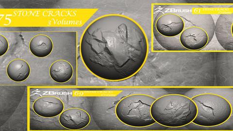 Stone Cracks Brushes 3 Volumes