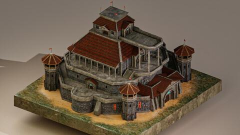 Medieval Castle Level 20 3D Model