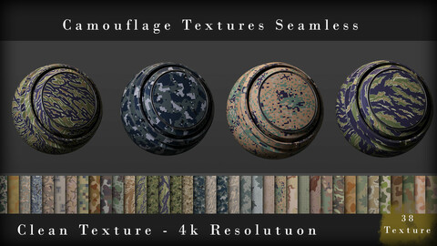 Camouflage Textures Seamless