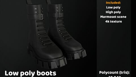 Low poly boots
