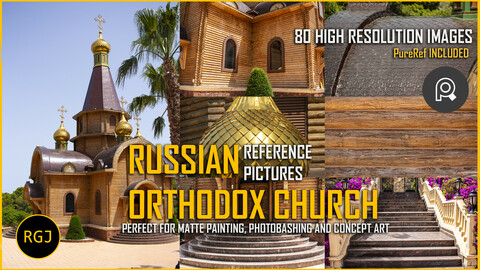 RUSSIAN  ORTHODOX CHURCH - REFERENCE PICTURES - 80 HIGH RESOLUTION IMAGES