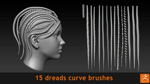 Dreads curve brushes