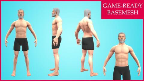 Stylized Male Character Design - Basemesh