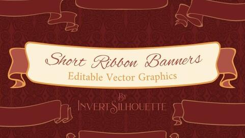 Short Ribbon Banner Set 01