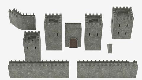 Medieval Castle Pack 3D model