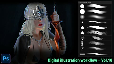 Digital illustration workflow - Vol.10