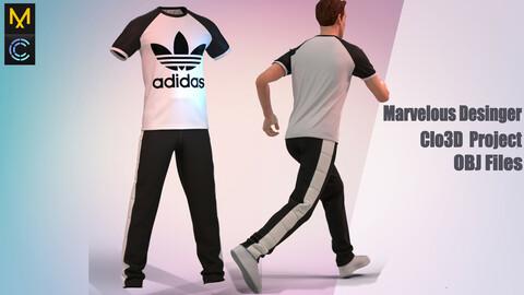 Men's sports suit (marvelous desinger/Clo3D project+OBJ)