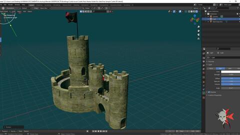 Free castle from my mega castle kitbash set Free 3D model 211 parts