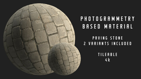 024 Square paving stone - Photogrammetry based material