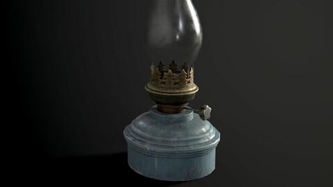 Old Kerosene Lamp 4K