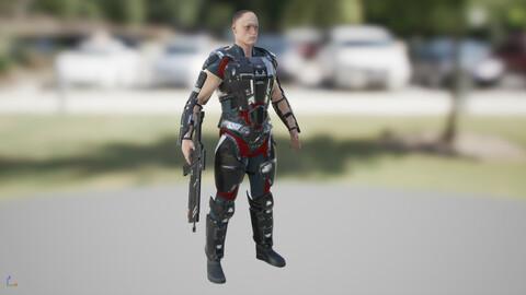 Free UE4  Male & Gun