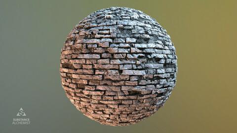 Brick Wall Damaged PBR