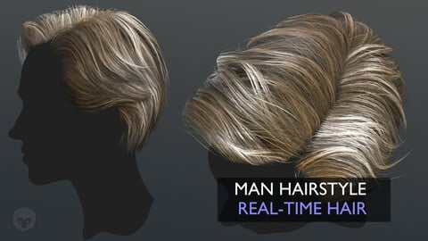 Man Hairstyle with Marmoset Preview