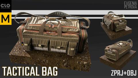TACTICAL BAG. MD,CLO3D PROJECT+OBJ
