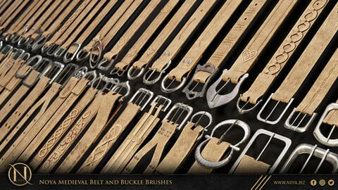 Zbrush | 108 Medieval Belt And Buckle Brushes
