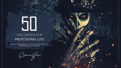 50 Halloween Film LUTs and Presets Pack