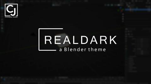 RealDark - a Blender theme