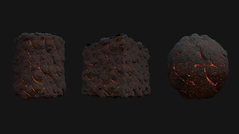 Stylized Lava PBR Texture