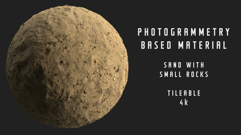 025 Sand with small rocks - Photogrammetry based material