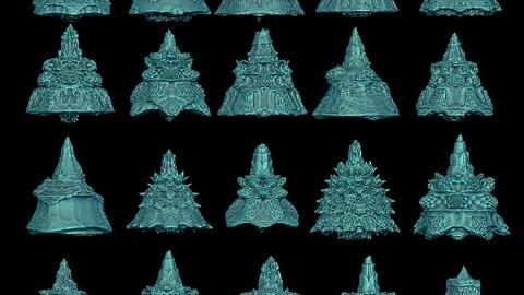 20 cone fractal 3D print model 3D print model