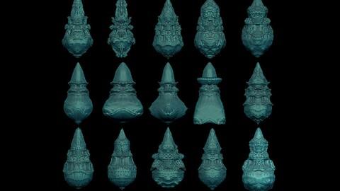 15 fractal forms 3D print model