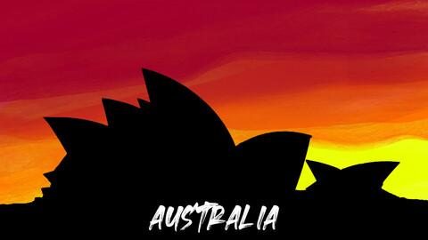 Sydney Opera House, Australia art poster