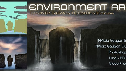 Environment Art from NVidia Gaugan to Photoshop in 30 minutes