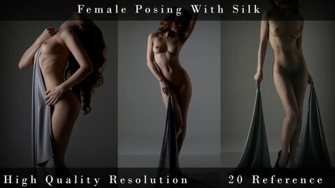 Female Posing With Silk