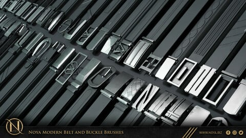 Zbrush | 104 Modern Belt And Buckle Brushes