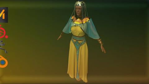 Egyptian golden dress