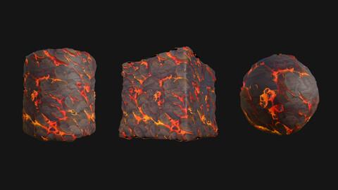 Stylized Lava5 PBR Texture