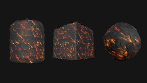Stylized Lava7 PBR Texture