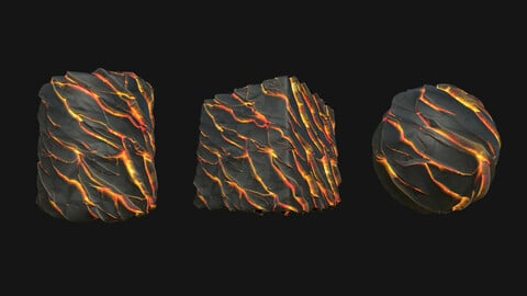 Stylized Lava8 PBR Texture