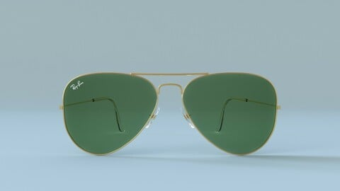 Ray Ban Aviator Classic Sunglasses 3D model