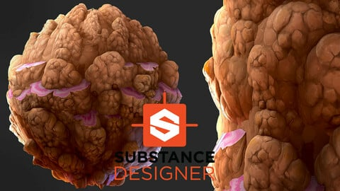 Stylized Mineral Wall Material - Substance Designer