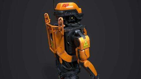 Elysium Droid Orange Skin (Factory Robot)