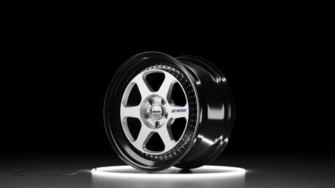 WORK MEISTER L1 Car wheel 3D model