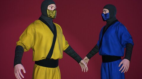 Ninja 02 Low-poly
