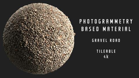 026 Gravel road - Photogrammetry based material