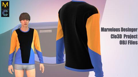 Sweatshirt  detailed Marvelous Desinger/Clo3D project  + OBJ file