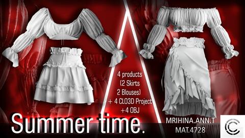 .Summer time. Clo3d, Marvelous Designer.