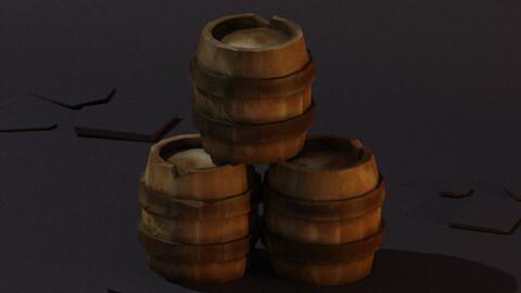 Stylized Oak Barrel