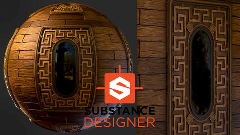 Stylized Ornamental Wood - Substance Designer