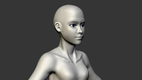 Anime Female Body + Unwarp
