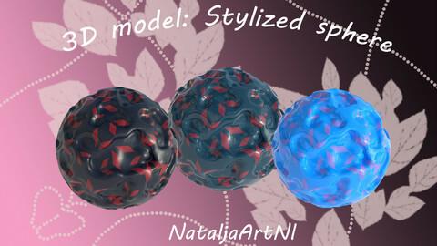 3D model: Stylized sphere