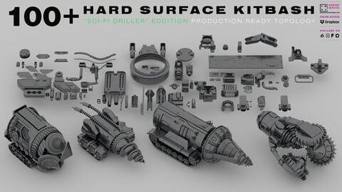 100+ HARD SURFACE KITBASH [PRODUCTION READY TOPOLOGY]