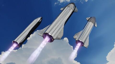 3 Starship variants
