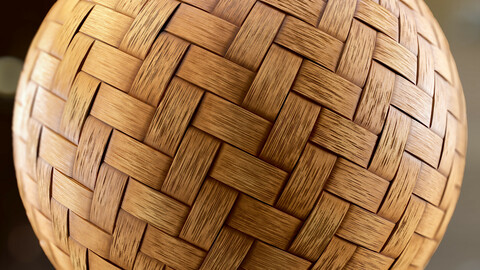 PBR - CLASSIC CRAFTS WOVEN BAMBOO - 4K MATERIAL